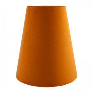 Burnt Orange Velvet Tall Empire Lampshade