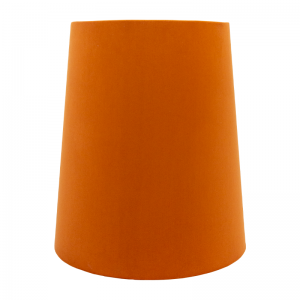 Burnt Orange Velvet Tall French Drum Lampshade
