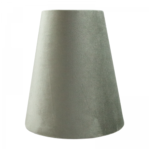 Dove Grey Velvet Tall Empire Lampshade