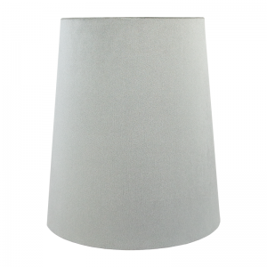 Dove Grey Velvet Tall French Drum Lampshade