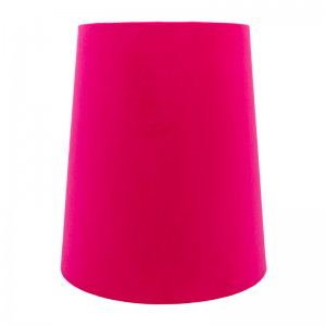 Fuchsia Pink Velvet Tall French Drum Lampshade