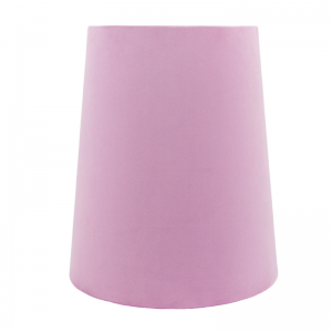 Lavender Velvet Tall French Drum Lampshade