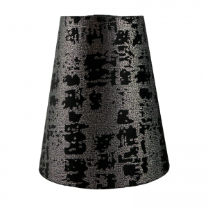 Mercury Black Velvet Tall Empire Lampshade