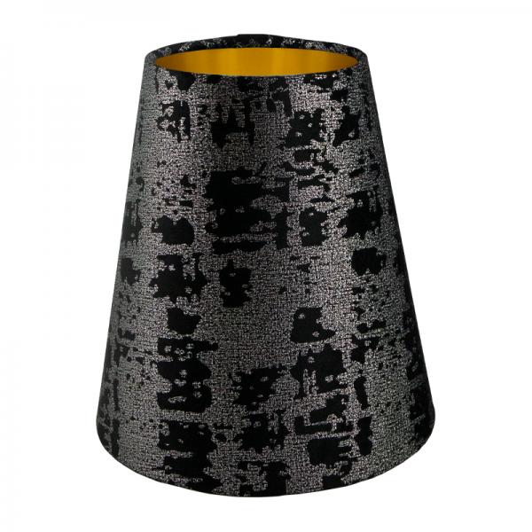 Mercury Black Velvet Tall Empire Lampshade