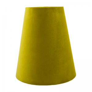 Mustard Yellow Velvet Tall Empire Lampshade