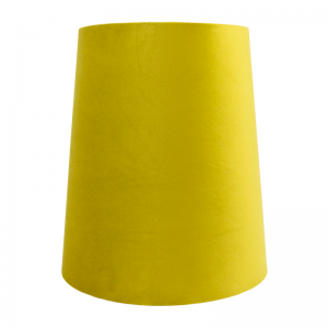 Mustard Yellow Velvet Tall French Drum Lampshade