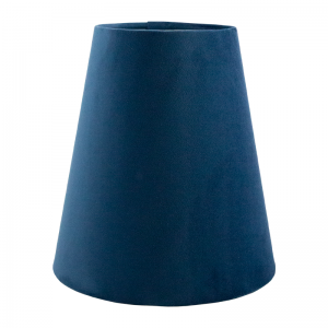 Navy Blue Velvet Tall Empire Lampshade