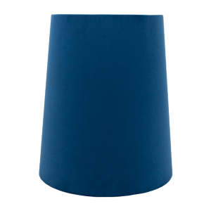 Navy Blue Velvet Tall French Drum Lampshade