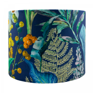 Oasis Navy Blue Velvet Drum Lampshade