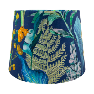 Oasis Navy Blue Velvet French Drum Lampshade