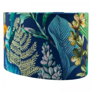 Oasis Navy Blue Velvet Oval Lampshade