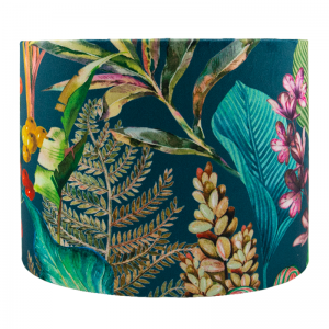 Oasis Teal Drum Lampshade