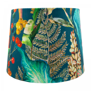 Oasis Teal Velvet French Drum Lampshade