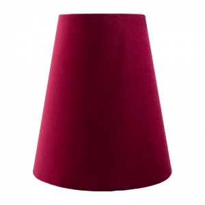 Ruby Red Velvet Tall Empire Lampshade