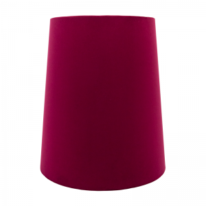 Ruby Red Velvet Tall French Drum Lampshade