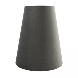 Slate Grey Velvet Tall Empire Lampshade