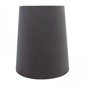 Slate Grey Velvet Tall French Drum Lampshade