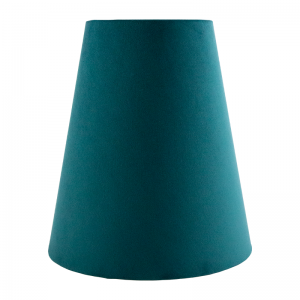 Teal Velvet Tall Empire Lampshade