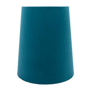 Teal Velvet Tall French Drum Lampshade