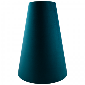 Teal Velvet Tall Tapered Lampshade