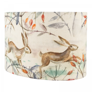 Voyage Winter Hares Oval Lampshade