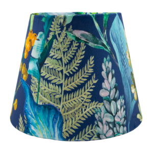 Oasis Blue Floral Velvet Empire Lampshade