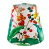 Oasis White Floral Velvet Tall Empire Lampshade