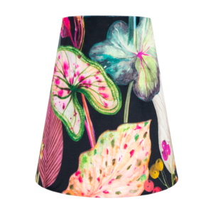 Oasis Black Floral Velvet Tall Empire Lampshade
