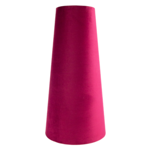 Ruby Red Velvet Tall Tapered Lampshade