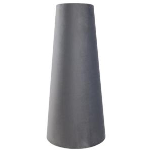 Slate Grey Velvet Tall Tapered Lampshade