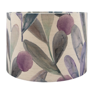 Voyage Enso Violet Floral Drum Lampshade