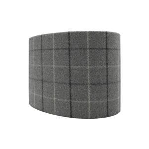 Bamburgh Dove Grey Tartan Oval Lampshade