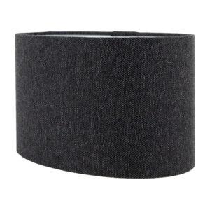 Dark Grey Herringbone Oval Lampshade