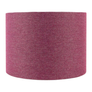 Mulberry Herringbone Drum Lampshade