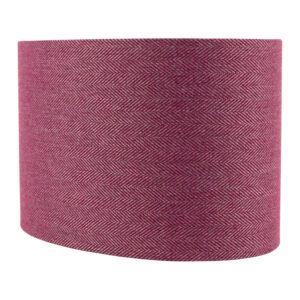 Mulberry Herringbone Oval Lampshade