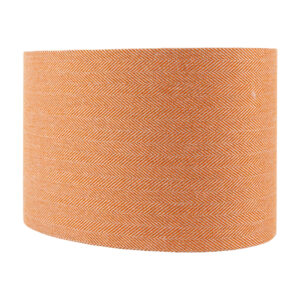 Orange Herringbone Oval Lampshade