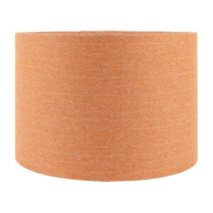 Orange Herringbone Drum Lampshade