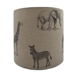 Safari Animals Drum Lampshade