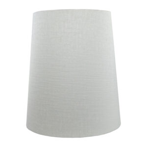 Dove Grey Satin Tall French Drum Lampshade