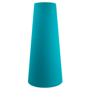 Teal Cotton Tall Tapered Lampshade