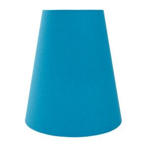 Aqua Blue Cotton Tall Empire Lampshade