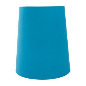Aqua Blue Cotton Tall French Drum Lampshade