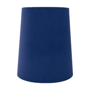 Bright Blue Cotton Tall French Drum Lampshade