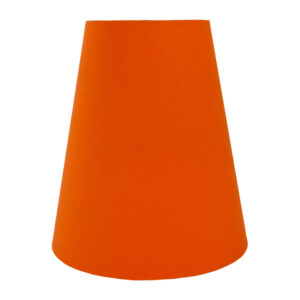 Bright Orange Cotton Tall Empire Lampshade