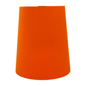 Bright Orange Cotton Tall French Drum Lampshade