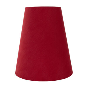 Bright Red Cotton Tall Empire Lampshade