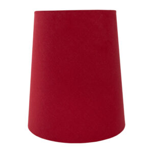 Bright Red Cotton Tall French Drum Lampshade