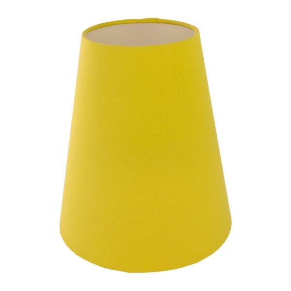 Bright Yellow Cotton Tall Empire Lampshade