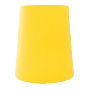 Bright Yellow Cotton Tall French Drum Lampshade