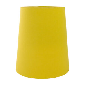 Mustard Yellow Cotton Tall French Drum Lampshade